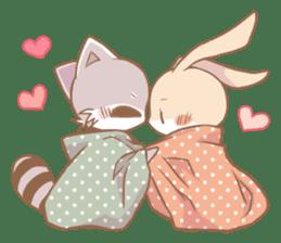 Love!Raccoons&Rabbit3 sticker #9440027