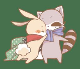 Love!Raccoons&Rabbit3 sticker #9440031