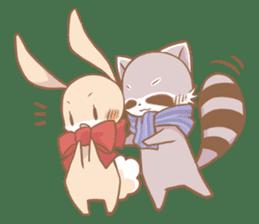 Love!Raccoons&Rabbit3 sticker #9440033