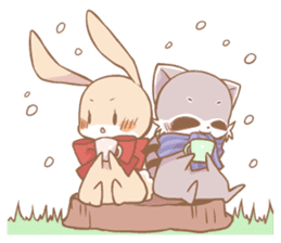 Love!Raccoons&Rabbit3 sticker #9440034