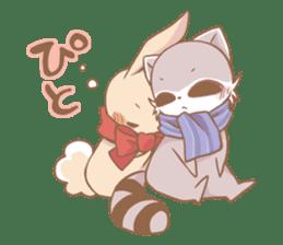 Love!Raccoons&Rabbit3 sticker #9440035