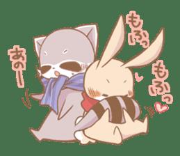 Love!Raccoons&Rabbit3 sticker #9440037