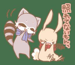 Love!Raccoons&Rabbit3 sticker #9440038