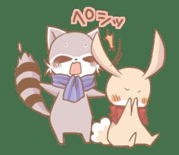 Love!Raccoons&Rabbit3 sticker #9440039