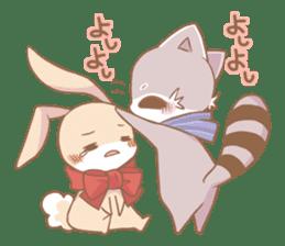 Love!Raccoons&Rabbit3 sticker #9440041