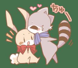 Love!Raccoons&Rabbit3 sticker #9440042