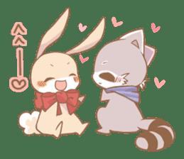 Love!Raccoons&Rabbit3 sticker #9440043