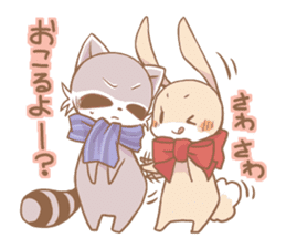 Love!Raccoons&Rabbit3 sticker #9440044