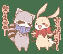 Love!Raccoons&Rabbit3 sticker #9440045