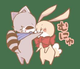 Love!Raccoons&Rabbit3 sticker #9440047