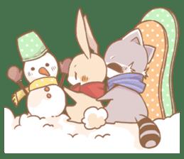 Love!Raccoons&Rabbit3 sticker #9440054