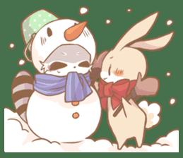 Love!Raccoons&Rabbit3 sticker #9440055