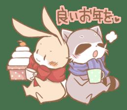 Love!Raccoons&Rabbit3 sticker #9440056