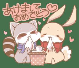 Love!Raccoons&Rabbit3 sticker #9440057