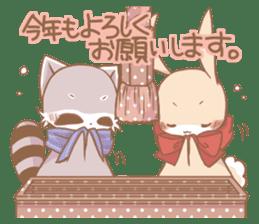 Love!Raccoons&Rabbit3 sticker #9440058