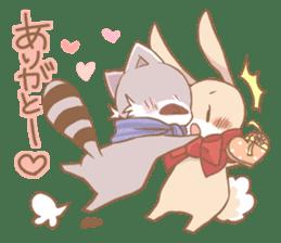Love!Raccoons&Rabbit3 sticker #9440062
