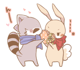 Love!Raccoons&Rabbit3 sticker #9440063