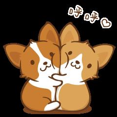 Corgi Dog KaKa - Good Friends