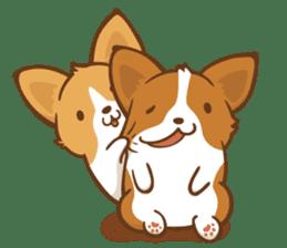 Corgi Dog KaKa - Good Friends sticker #9440548