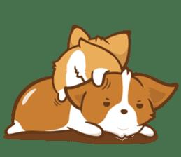 Corgi Dog KaKa - Good Friends sticker #9440550