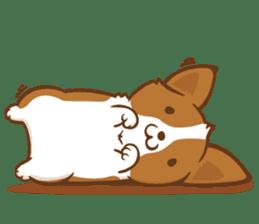 Corgi Dog KaKa - Good Friends sticker #9440564