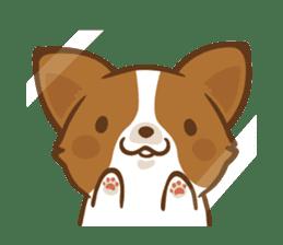 Corgi Dog KaKa - Good Friends sticker #9440566