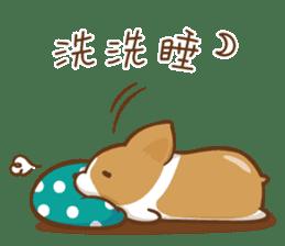 Corgi Dog KaKa - Good Friends sticker #9440567