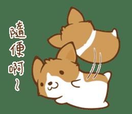 Corgi Dog KaKa - Good Friends sticker #9440569