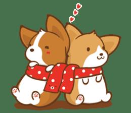 Corgi Dog KaKa - Good Friends sticker #9440580