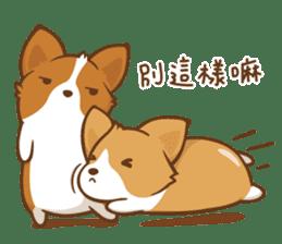 Corgi Dog KaKa - Good Friends sticker #9440581