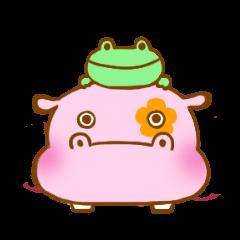 Hippopotamus and Frog
