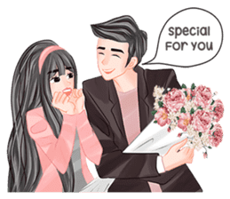Romantic Couple 2 sticker #9449975