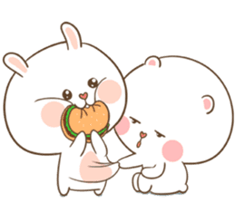 TuaGom : Puffy Bear & Rabbit sticker #9450760
