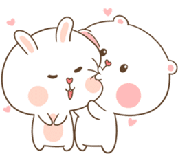 TuaGom : Puffy Bear & Rabbit sticker #9450765