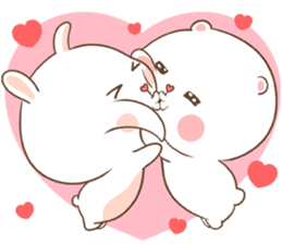 TuaGom : Puffy Bear & Rabbit sticker #9450766