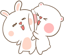 TuaGom : Puffy Bear & Rabbit sticker #9450767