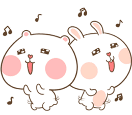 TuaGom : Puffy Bear & Rabbit sticker #9450769