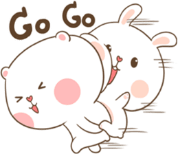 TuaGom : Puffy Bear & Rabbit sticker #9450785