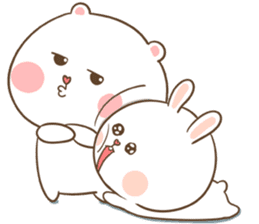 TuaGom : Puffy Bear & Rabbit sticker #9450787