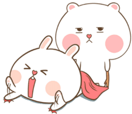 TuaGom : Puffy Bear & Rabbit sticker #9450798