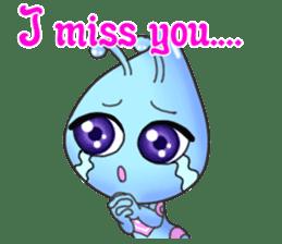 """""""Pleia"""" The Cute Alien part 2 (English) sticker #9451203"""