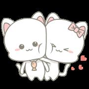 สติ๊กเกอร์ไลน์ Njun & Njel: Cat Couple