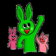 Midori usagi and his friends