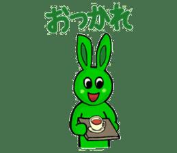 Midori usagi and his friends sticker #9453764