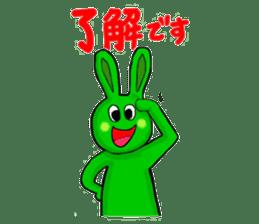 Midori usagi and his friends sticker #9453765