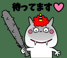 Cat Devil -ONI NEKO- sticker #9464259