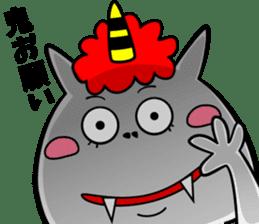 Cat Devil -ONI NEKO- sticker #9464262