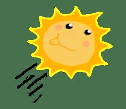 Funny Sun sticker #9474009