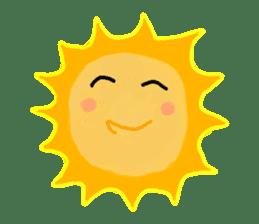 Funny Sun sticker #9474012