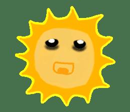 Funny Sun sticker #9474013